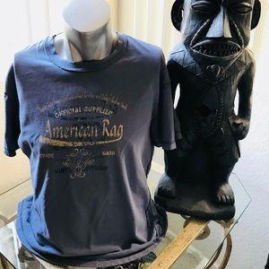 AMERICAN RAG Men's LOGO Tee Shirt LARGE